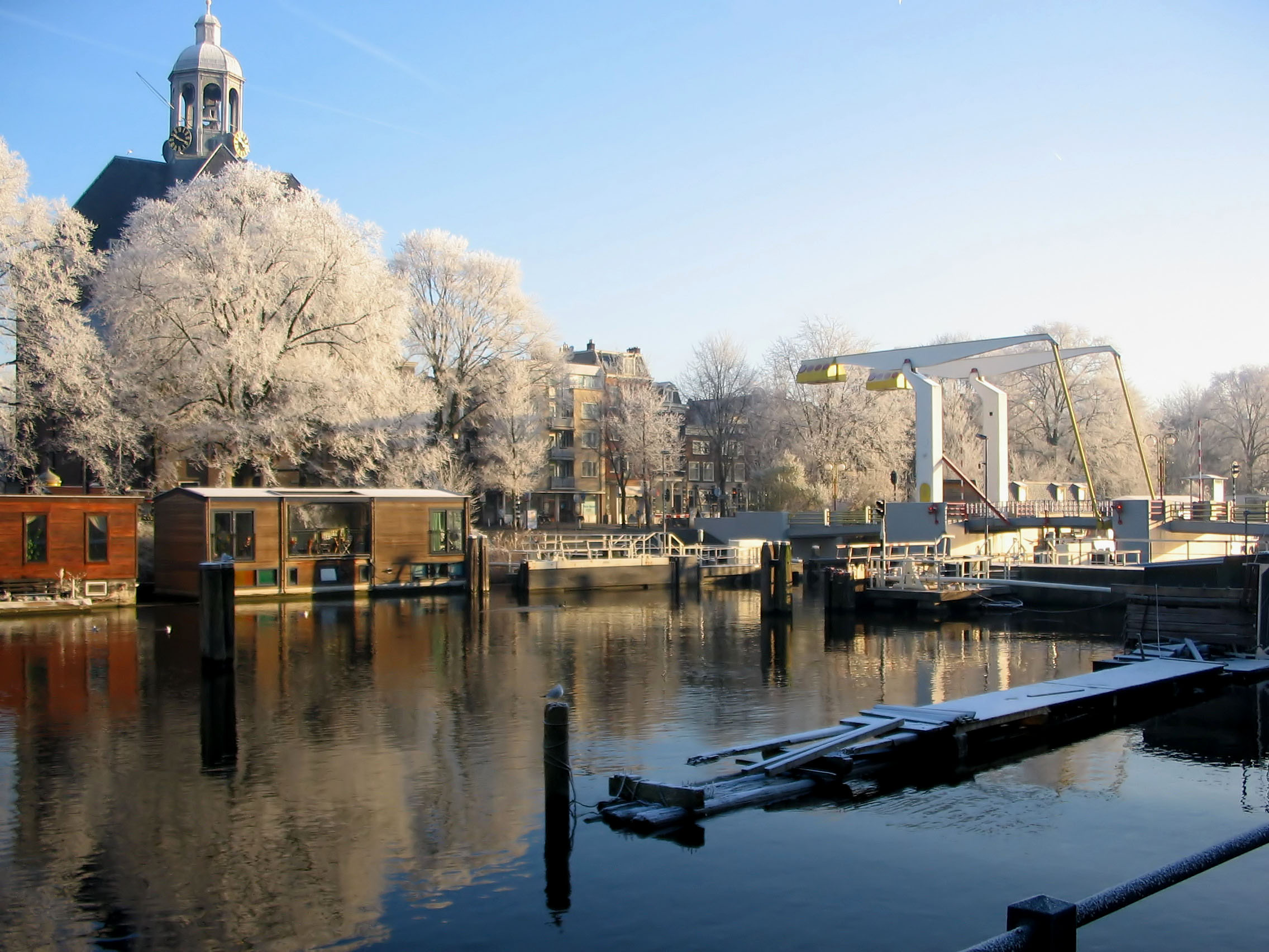 Amsterdam in de winter